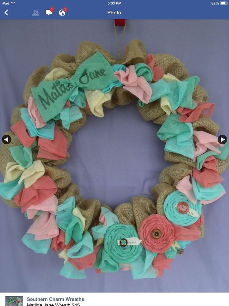 Matilda Jane Clothing 2 4 6 8 10 Handmade Mesh Bag Burlap Wreath #Handmade