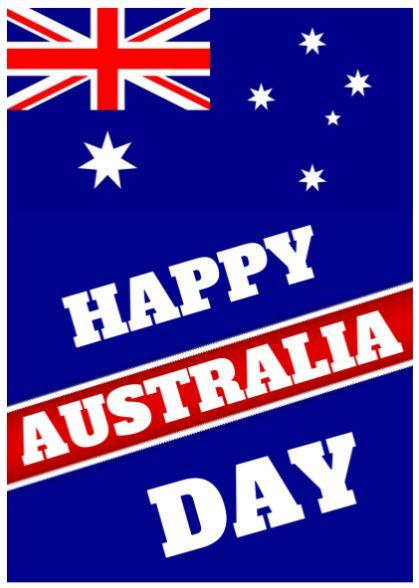 Australia Day Poster for printing.