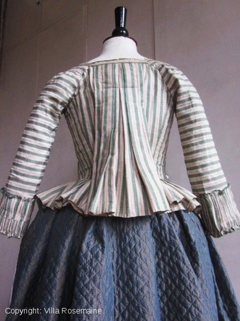 Silk jacket/bodice France caraco with pleats Louis XVI c.1770-1780