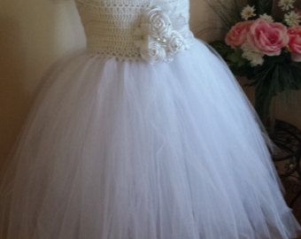 ♥´¨) ¸•´¸.•*´¨) ¸.•*Orange and Ivory Crochet Tulle Dress Girl Birthday Dress, Tutu Easter Dress, Vintage Tutu Dress.. (¸.•´ (¸.•`¤~  ♥♥♥¤~Please feel free to contact me Chest: Measure around the torso, right under the arms LENGTH: Measure from the shoulder down to the desired length, mid-shin, ankle, floor  The Length is measured from Shoulder to the end of tulle for Tea length as for  0-6 m: chest 15 ........tea length 17 6-12 m: chest 16.......tea length 18 12-18 m: chest 18.....tea le...