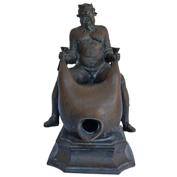 """""""Silenus"""" Bronze Fountain Head, 19th Century 