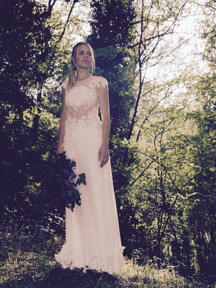 SIMPLE. Atelier Couture Forest boho chic wedding dress. Hand made embroidery work.  Etsy.com