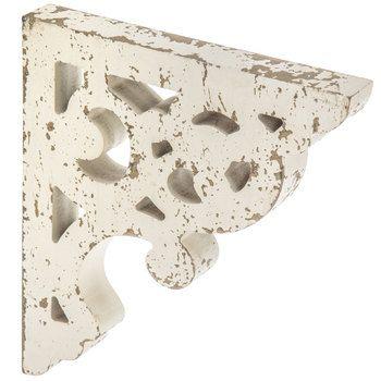 White Distressed Wood Corbel Mirror Wall Decor Wall Art Decor Wall Decor Online