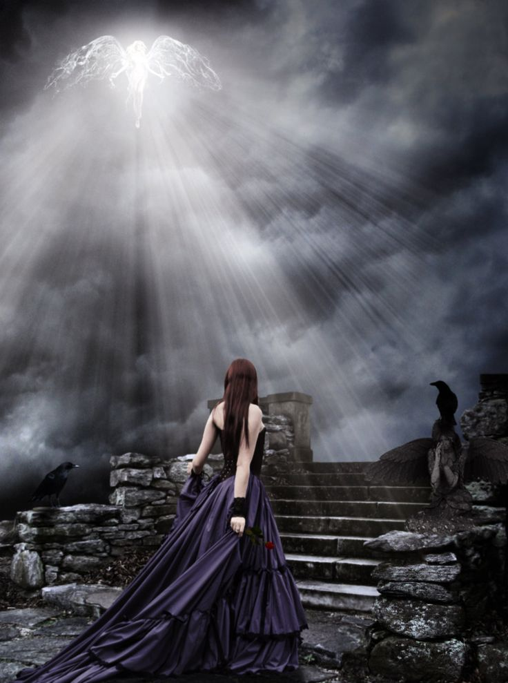 Dark Gothic Art | light angel dark gothic by amott128 digital art photomanipulation ...