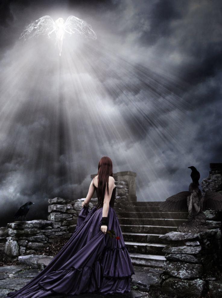 Dark Gothic Art | light angel dark gothic by amott128 digital art photomanipulation ...