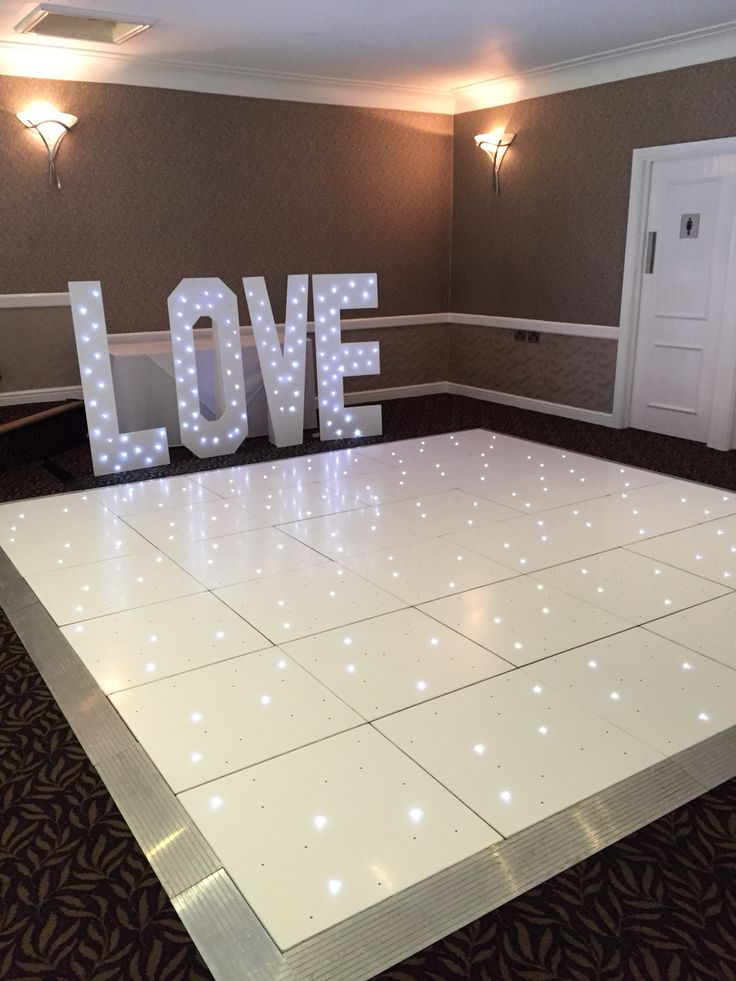 Our gorgeous led dancefloor and light up love letters at the Everglades in Widnes by Kieras occasions