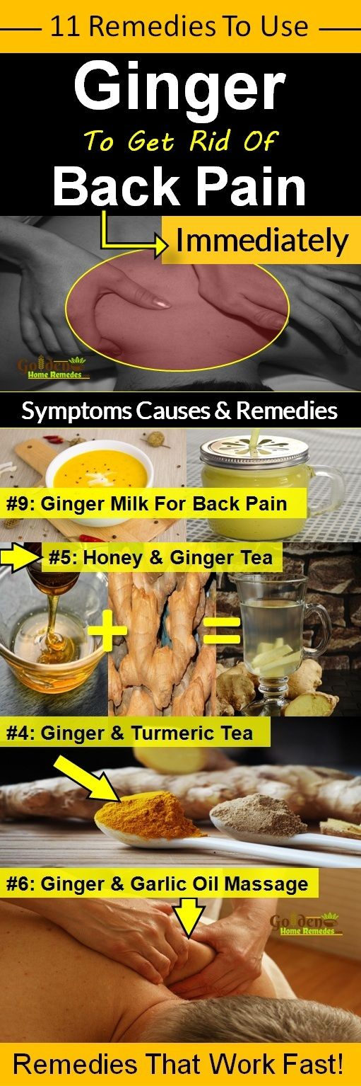 Ginger for back pain, How To Relieve Back Pain With These 11 Ginger Remedies