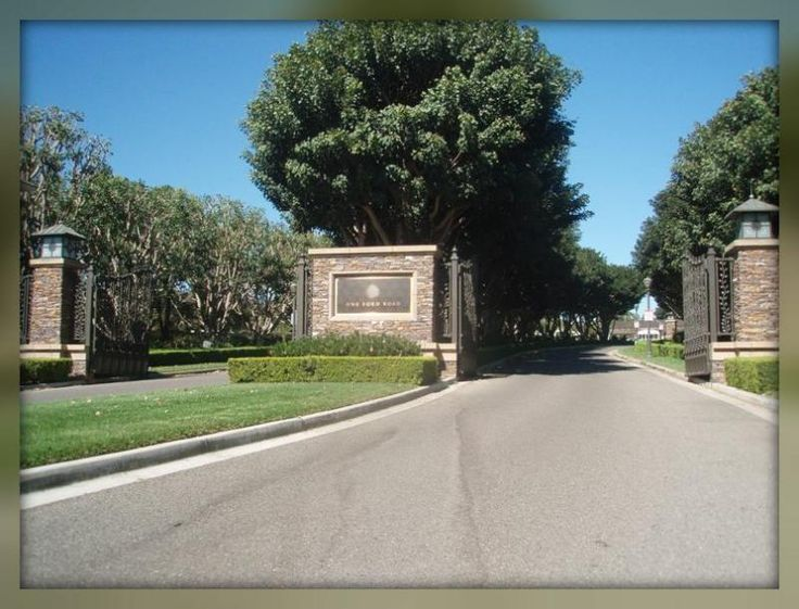 gated community entrance - Google Search; line of trees! GRAND
