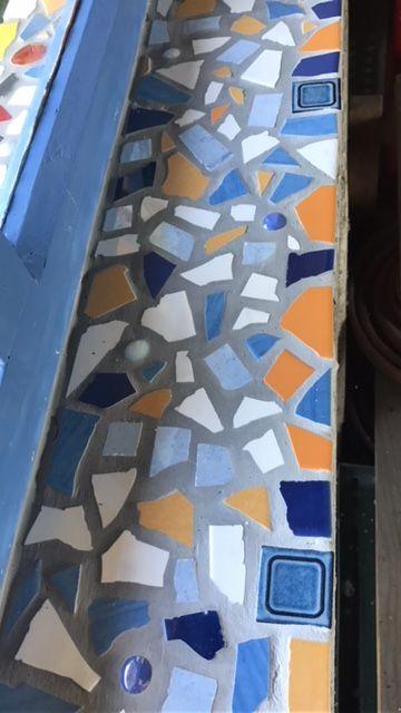 Fensterbrett Mit Mosaik Ausgelegt Kreativesbypetra Mosaik By Petra