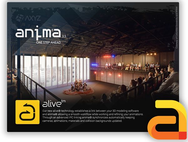 ANIMA is the 3d people animation application developed specifically