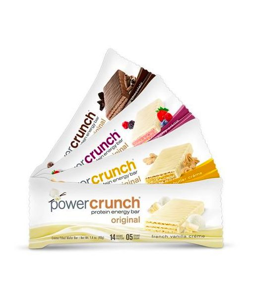 Power Crunch is a uniquely different protein bar. Wafer cookies with a velvety protein filling that is low in sugar and has a low glycemic response.