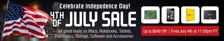 MacMall - Celebrate Independence Day with the 4th of July Sale - Up to $649 Off [Exp. 7/4]