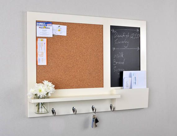 Large Cream Pin Board Chalkboard Organiser Message And Bulletin