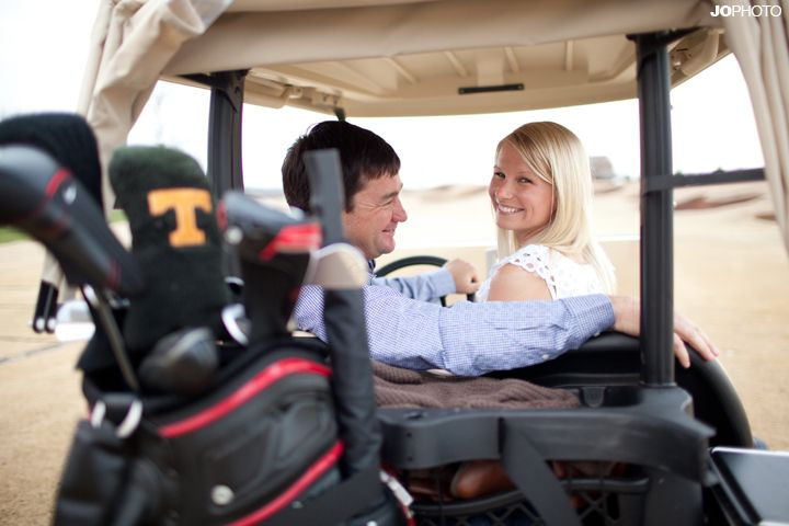 I love the golf pictures for engagement pictures/save the date