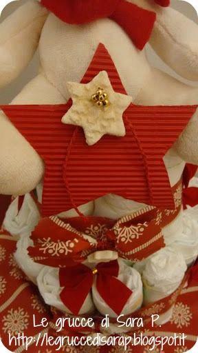 Torta di pannolini natalizia per Borna
