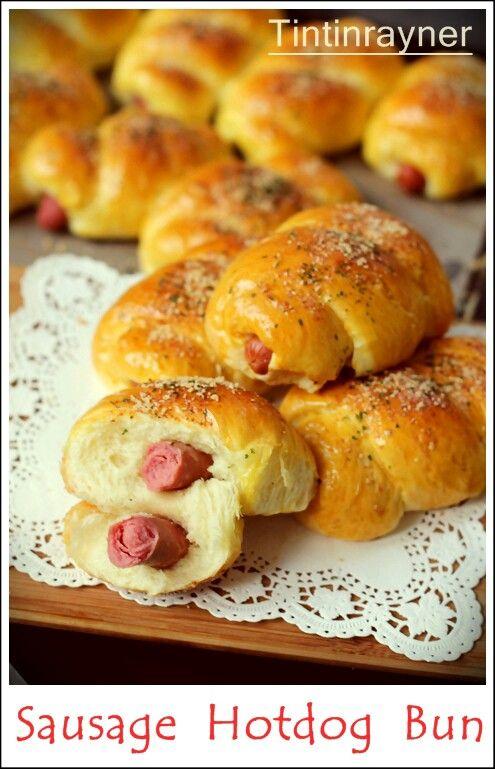 Sausage hotdog bun aka Roti Sosis
