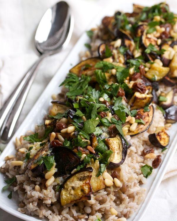 Roasted Eggplant with Pine Nuts & Raisins | Big Girls ...