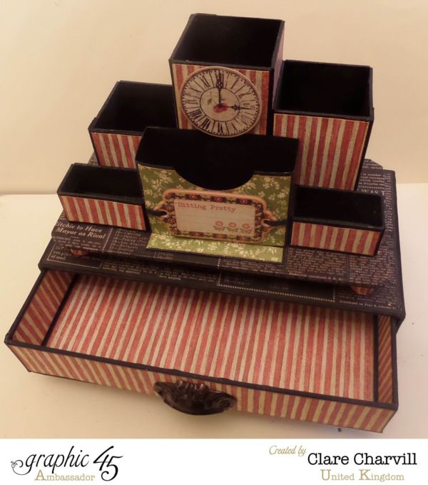 May 2015 G45 Times Nouveau - Desk Tidy & Drawer Set for Mother's Day by Clare Charvill; My Creative Spirit