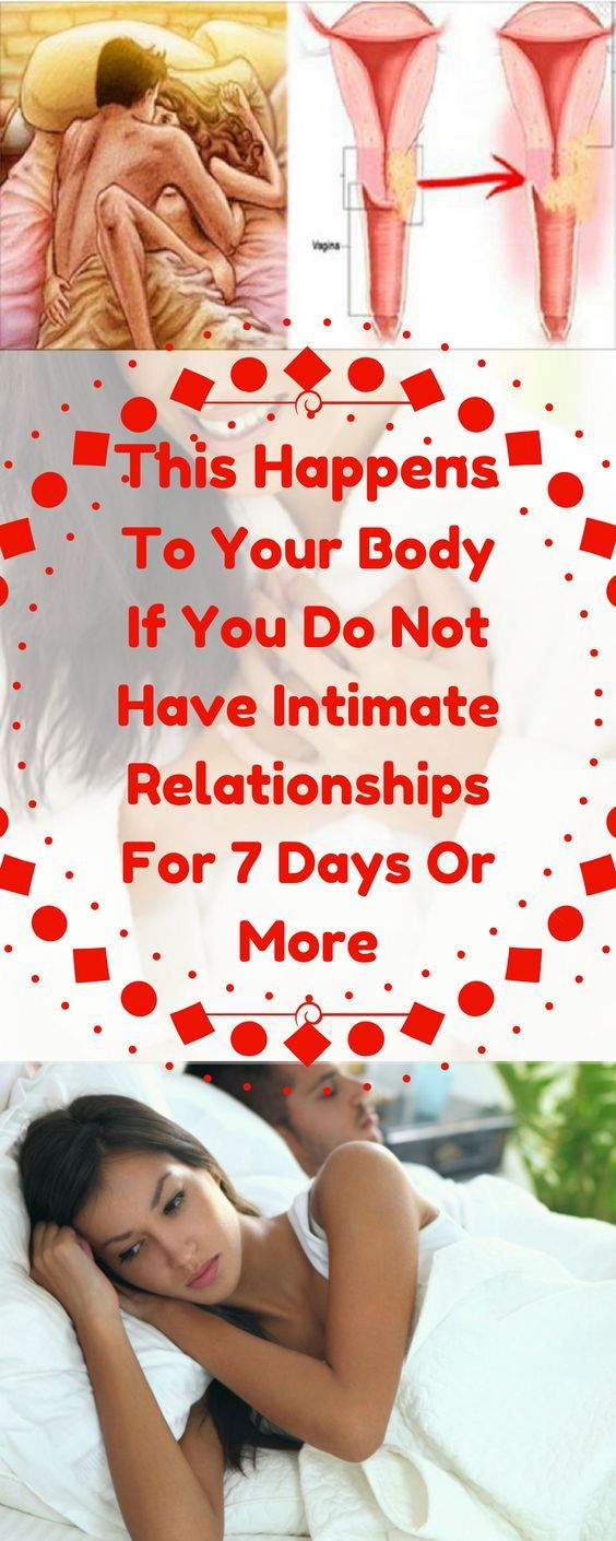 THIS HAPPENS TO YOUR BODY IF YOU DO NOT HAVE INTIMATE RELATIONSHIPS FOR 7 DAYS OR MORE
