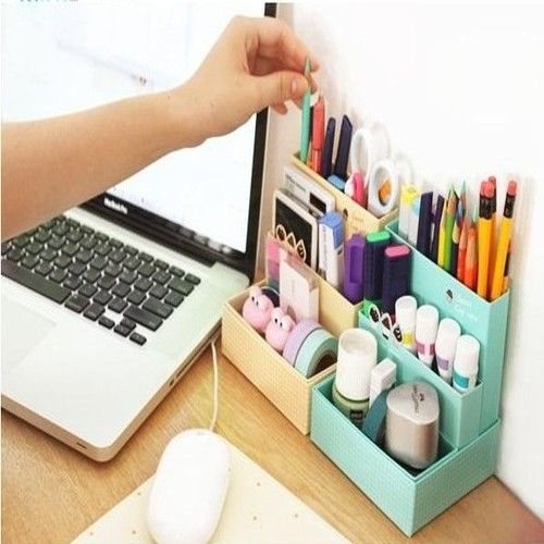 DIY Paper Board Storage Desk Container Box Organizer Stationary