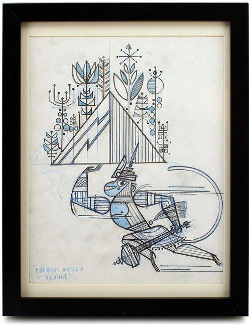 Sanjay Patel - Artwork - Hanuman - Nucleus | Art Gallery and Store