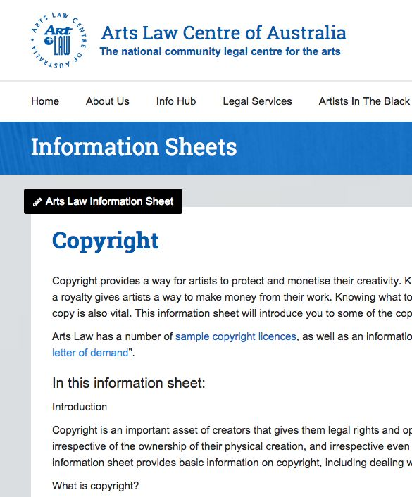 Arts Law Centre Of Australia  List Of Pages About Music  Music
