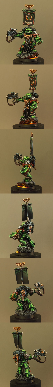 Space Marine Sternguard Veteran of the Salamanders Chapter.