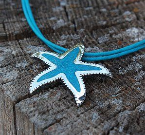 Sea Star Pendant Turquiose mosaic work.