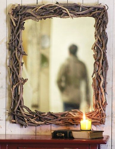 The ruggedly beautiful coastline of Big Sur with its steep cliffs and windblown trees overhanging the ocean below, provides inspiration for a uniquely coastal wall mirror. Intertwined driftwood creates a frame measuring 21x26 overall. Just the thing to add a touch of coastal charm to your seaside home. 2-week delivery.