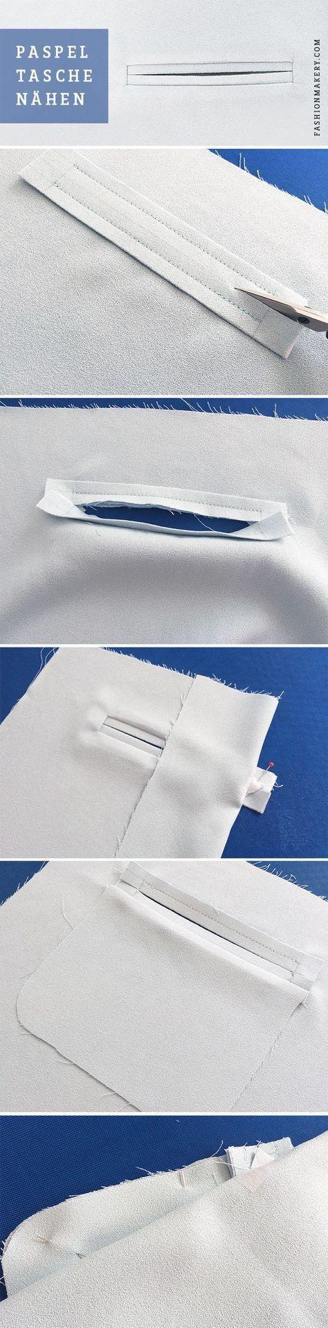 PASPELTASCHE NÄHEN // Paspeltaschen findet man vor allem an Hosen und Blazer od…