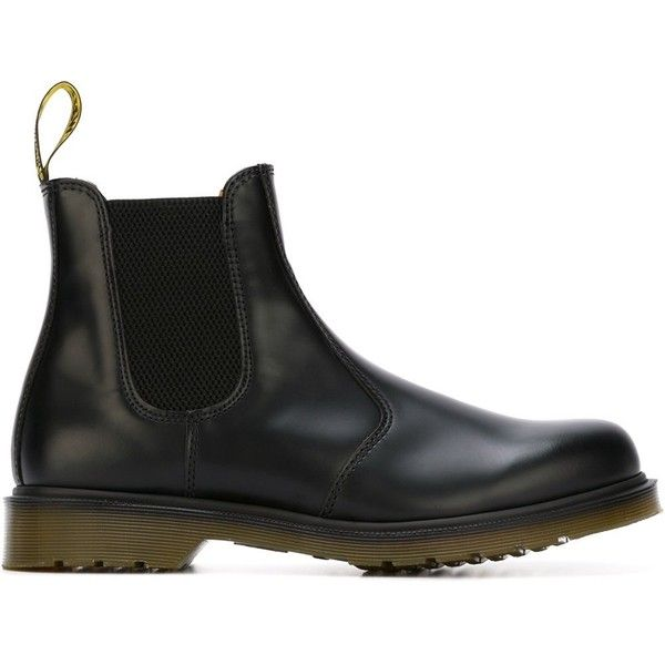Dr. Martens 'Chelsea' boots ($166) ❤ liked on Polyvore featuring men's fashion, men's shoes, men's boots, black, dr martens mens shoes, mens leather chelsea boots, dr martens mens boots, mens black leather shoes and mens black boots