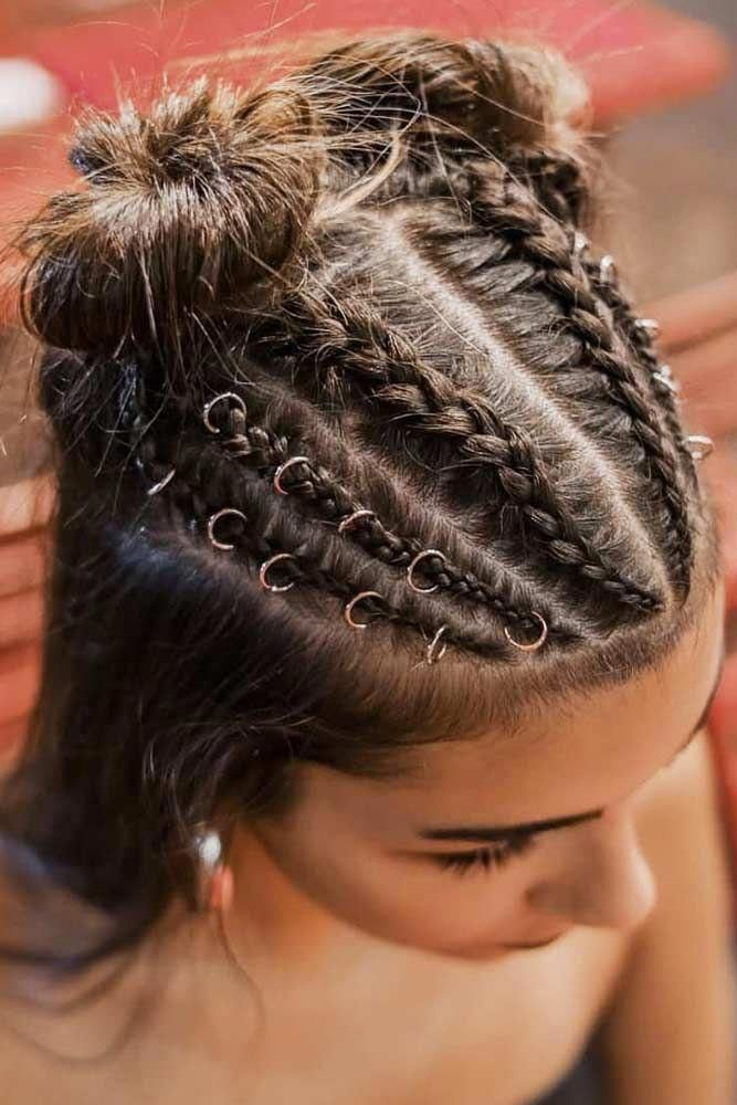 Braided Buns Half-Up #hairrings #hairaccessories #braids ❤ With hair rings attached to your hairstyle, no one will be able to take eyes off your loo...