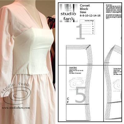 Make your own patterns! #CorsetBlock PDF My Blocks - pdf (downloads)  #PatternMakingOnline #sewingpatterns