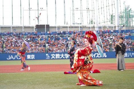 話題のギャル家元・五月千和加、神宮球場で圧巻の日本舞踊「新しい皮むけた」 #家元 #五月千和加 #神宮球場 #日本舞踊