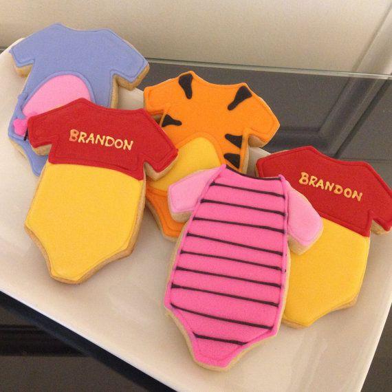 Winnie el Pooh inspirado galletas bebé por ASweetMorselCo en Etsy