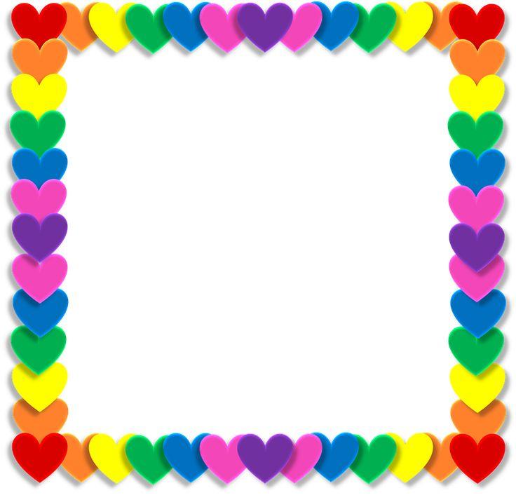 San Valentín, Corazón, El Amor, Marco, Arco Iris, Color