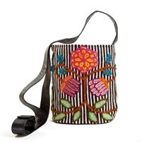jenny krauss flowers bucket bag black and white stripe