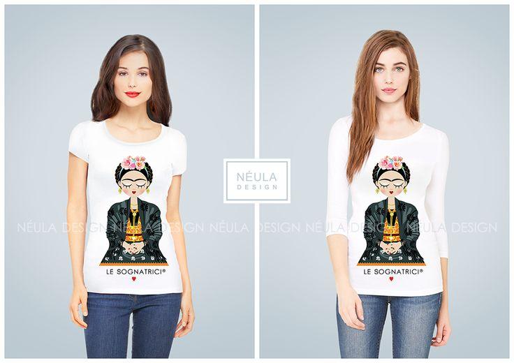 T-shirt Le Sognatrici - Frida Kahlo - Frida - Corazon Feliz - maglietta Frida -