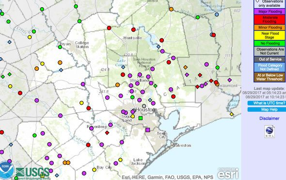 Hurricane Harvey Flood Map Houston Yahoo Image Search Results