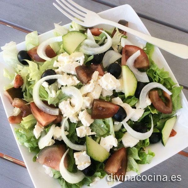 Ensalada griega » Divina CocinaRecetas fáciles, cocina andaluza y del mundo. » Divina Cocina