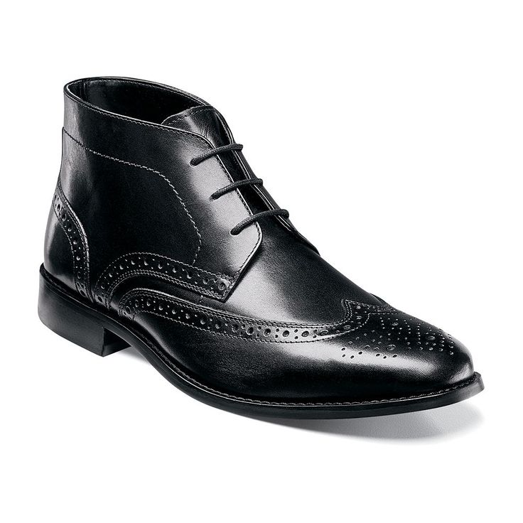 Nunn Bush Nichols Men's Wingtip Chukka Boots, Size: medium (10.5), Black