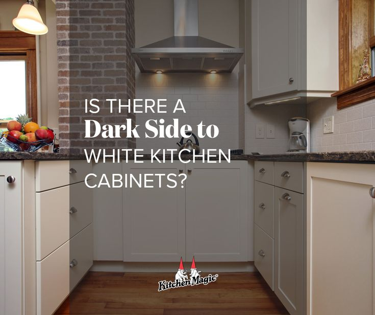 Kitchen Transformations: Is There A Dark Side To White Kitchen Cabinets?