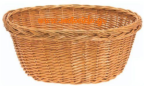 Καλάθι μπαμπού σε φυσικό χρώμα - κ.31456
