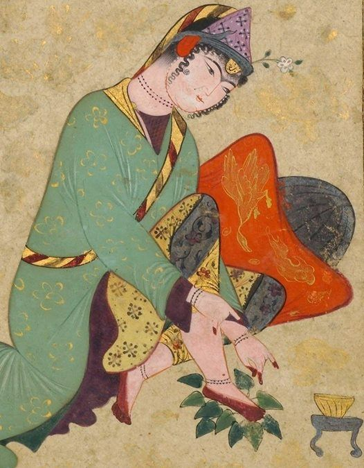 A lady applying henna, Iran. Late 16 th century The Metropolitan Museum of Art