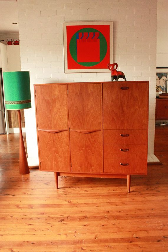 Mid Century Teak Cocktail Cabinet by TriBecasVintage on Etsy
