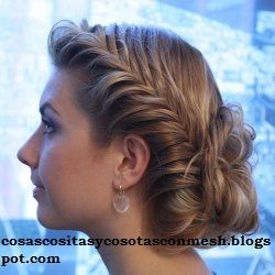 Hair style.: Hairstyles, Fish Braids, Fishtail Updo, Braids Updo, Prom Hair, Beautiful, Fishtail Bun, Hair Style, Fishtail Braids