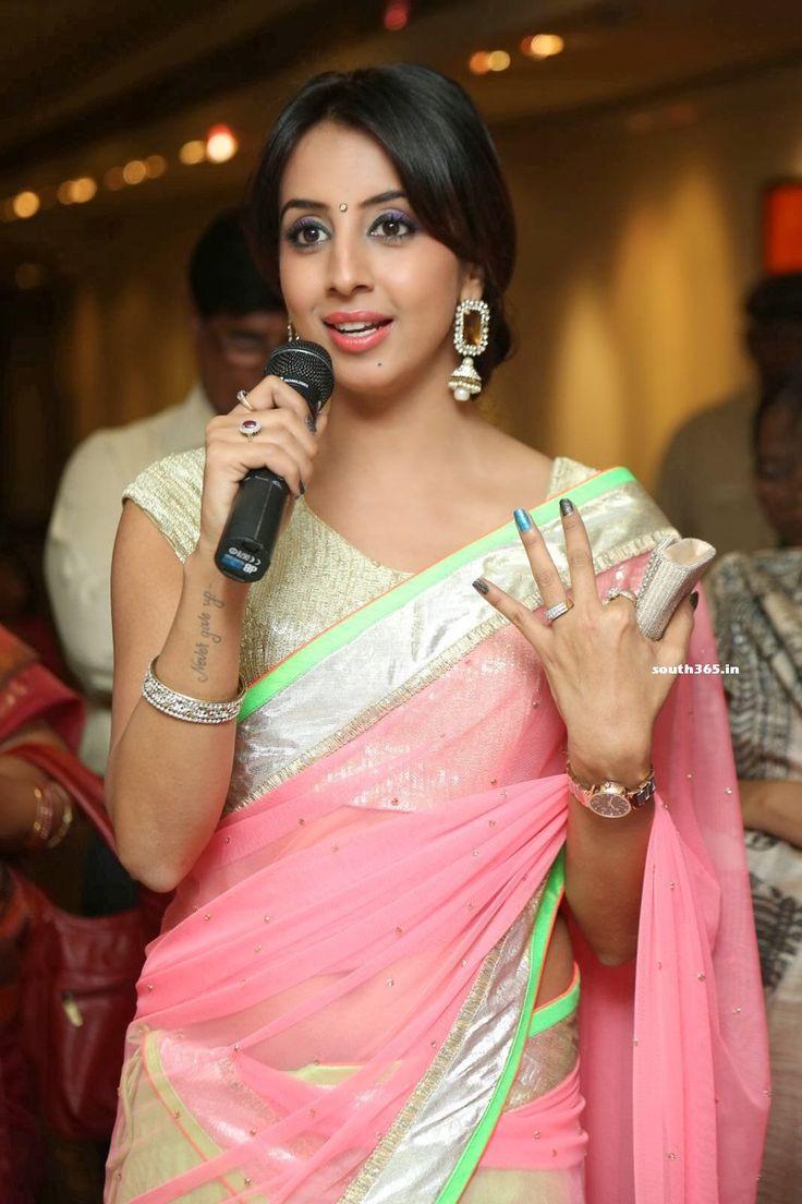 Kannada Movie Actress Sanjana in Saree At Muse Art Gallery (9) at ...