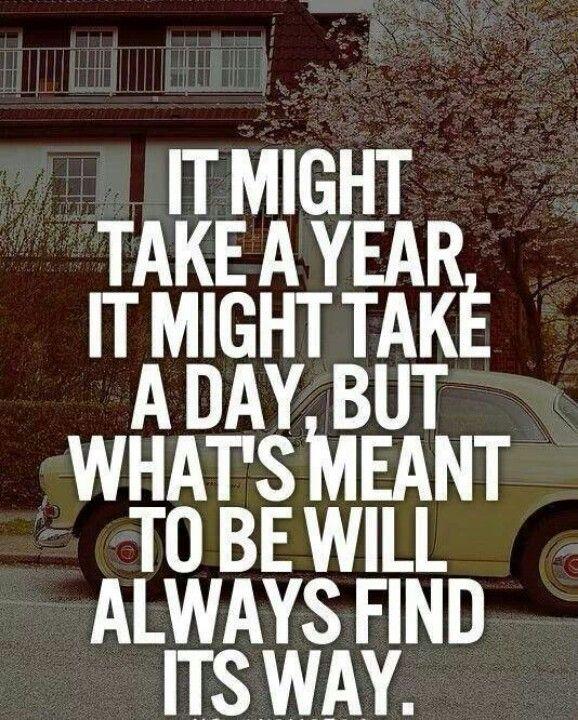 """""""Ca peut prendre un an. Ca peut prendre un jour. Mais ce qui doit arriver, arrivera."""""""