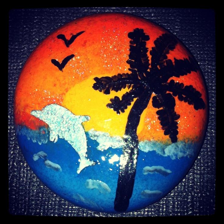 Palmtree @sunset magnets