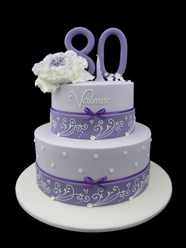 85th lavender birthday cakes | birthday cake in lavender, two tier design Inspired by Michelle Cake ...